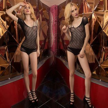 DCCKWQA New Women Teddy Bodysuit Net Body Stocking Suit Top Nightgown