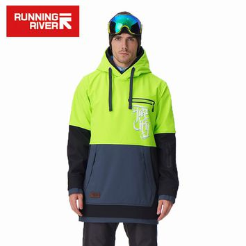 RUNNING RIVER Brand Men Snowboarding Hoodie 2017 High Quality Hooded Sports Snowboarding Jacket 5 Colors 3 Sizes #G6225