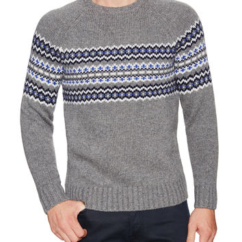 Barque Men's Nordic Sweater - Dark Grey -