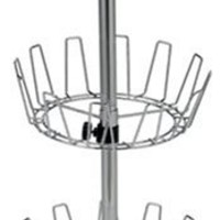 Household Essentials Three-Tier Revolving Shoe Tree Holds 18 Pairs, Chrome Finish