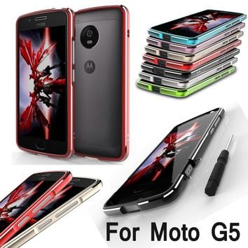 For Moto G 5 G5 XT1672 XT1676 Bumper Highlight Metal Frame Case Cover for Motorola Moto G5 XT1671 Phone Aluminum Bumper Cover