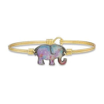 Tie Dye Elephant Bangle Bracelet