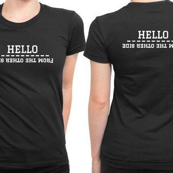 ESBP7V Adele Hello From The Other Side 2 Sided Womens T Shirt
