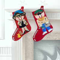 His and Hers Christmas Stockings - Personalized Christmas Stockings - Christmas Stocking Set - Family Stockings - Custom Christmas Stockings