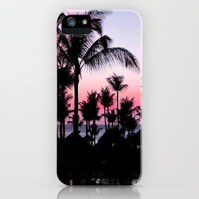Pink Sunset Iphone Case By Laura Nappi From Society6