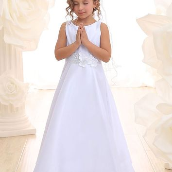 Satin Long Dress with Princess Seams