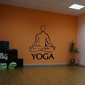 ik546 Wall Decal Sticker Art Yoga Hinduism Buddhism meditation lotus meditation