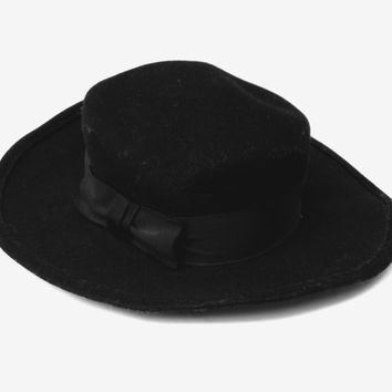 Vintage black men's Fedora hat Soviet authentic wool felt hat black wool felt hat fall hat gift for him country fedora hat
