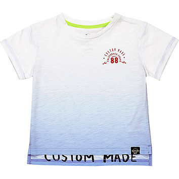 River Island Mini boys blue dip dye t-shirt
