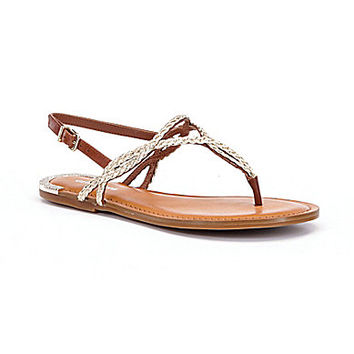 Gianni Bini Amalya Braided T-Strap Sandals