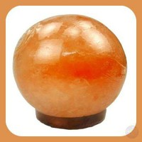 """Soothing & Healing"" Himalayan Rock Salt Sphere Lamp"