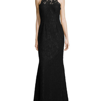 Halter Lace Mermaid Gown, Size: