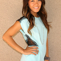 Lace Detail 'Julianne' Romper (Mint)