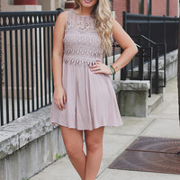 Tiers of Joy Dress - Mocha