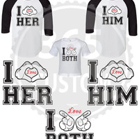 I Love Her, I Love Him & I Love Both (Set of 3 INDIVIDUAL PRICES)