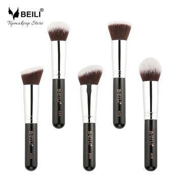 5pcs Kabuki Vegan Makeup Brush set