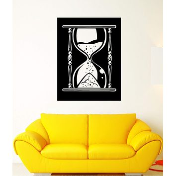 Wall Decal Hourglass Clock Time Symbol Sand Sandglass Mural Vinyl Decal Unique Gift (ed398)