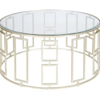 Jenny Silver Leaf Round Coffee Table