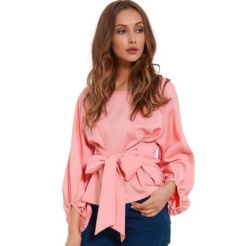 Chiffon Wrap Blouse Shirts For Women