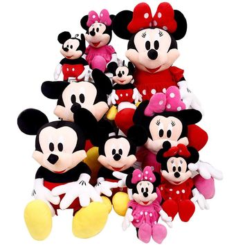 1pcs 28cm Minnie And Mickey Mouse Low Price Super Plush Doll Stuffed Animals Plush Toys For Children's Gifts