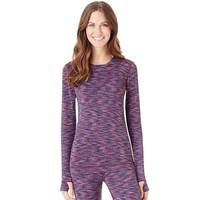 Cuddl Duds FlexFit Space-Dye Long Underwear Crewneck Top - Women's, Size: