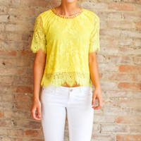 THE AGE OF LACE TOP - Citrus