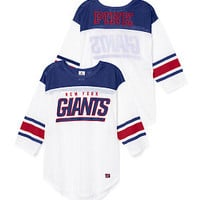 New York Giants Long Sleeve Boyfriend Tee - PINK - Victoria's Secret