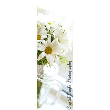 Floral Laminated Bookmarks White Daisy Crimson Gerber Daisy Easter Basket Gifts
