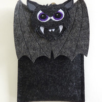 Samsung Galaxy Note 3 case - Vampire bat in black and gray felt