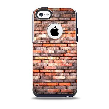 Multicolor Highlighted Brick Wall Skin for the iPhone 5c OtterBox Commuter Case