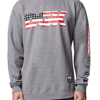 DGK American Nightmare Crew Fleece - Mens Hoodie - Grey
