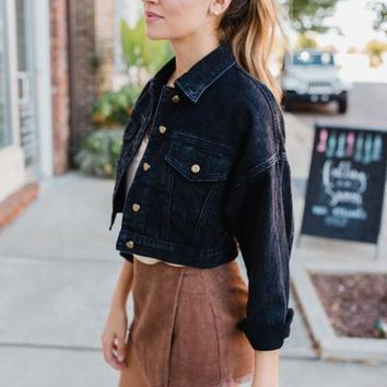 Venice Beach Crop Jean Jacket