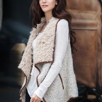 SHEARLING-LINED VEST