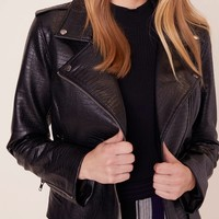 BB Dakota Lucky Lizard Leather Jacket