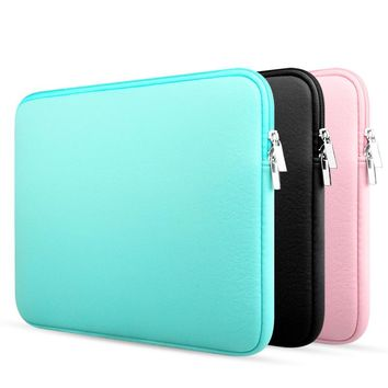 Soft Laptop Sleeve Bag Case For Macbook Air 11 12 13 14 15 15.6 Pro Retina 11.6 13.3 inch Zipper Bags For Mac Book Pro 13 Case