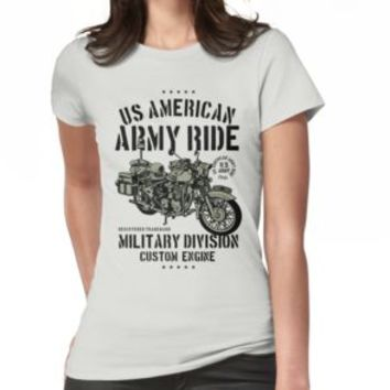 'US AMERICAN ARMY RIDE' T-Shirt by Super3