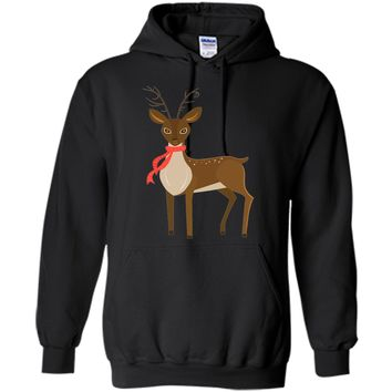 Cute Rudolph Reindeer Graphic T Shirt Holiday Costume Tee