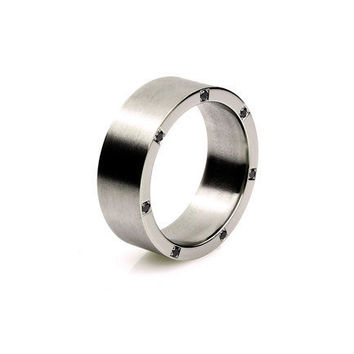 Titanium ring, black diamonds ring, wedding band, men wedding band, rings for men, commitment ring, men, black diamond, titanium, ring