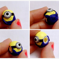 GUO GUO'S- The Original European style large Hole Minion Bead Charm / Despicable Me movie / Made to order