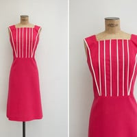 1960s Dress - Vintage 1960s Hot Pink Dress - Fresa & Nata Dress