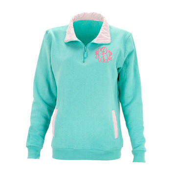 Preppy Pullover, FREE Personalization, Pink Pullover, Mint Pullover, Navy Pullover, Embroidered Pullover, Personalized Pullover
