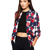 Rose Print Long Sleeve Jacket