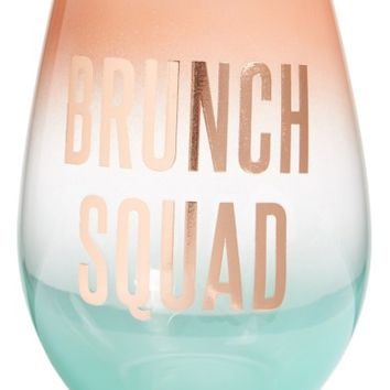 Slant Collections Brunch Squad Stemless Wine Glass | Nordstrom