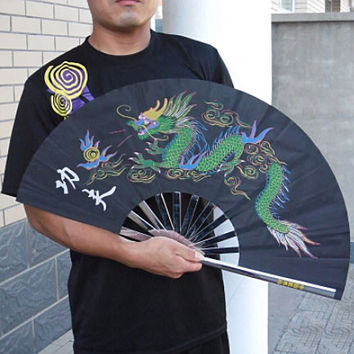 Black Dragon Metal Tai Chi Fan