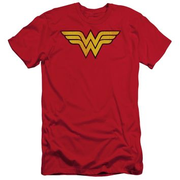 Wonder Woman Logo Dist Short Sleeve Adult 30/1
