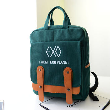Back To School Fall Fashion College Bag Stylish Canvas Backpack [6582195015]