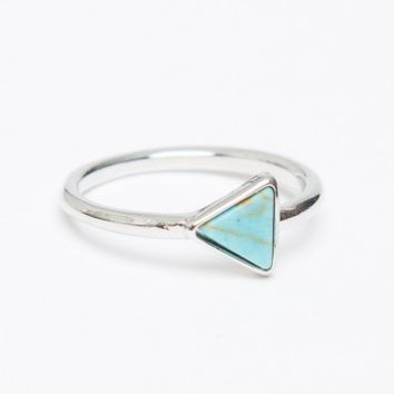 TRIANGLE TURQUOISE STONE RING