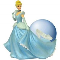 Cinderella's Glass Slipper 45mm Water Globe Resin Figurine