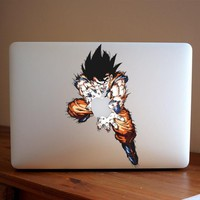 Goku Macbook Decal Sticker by airShopp