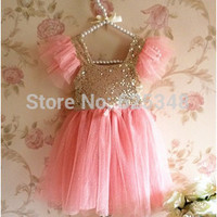 Baby Girls Dress Baby Toddler Sequined Tulle Party Kids Dress Ball Gown with Sparkling Polka Dots Kids Clothes Girl Dress
